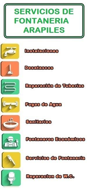servicios de fontaneria en Arapiles